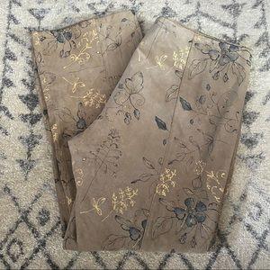 Wilson's Leather Maxima- Tan Floral Print Pants